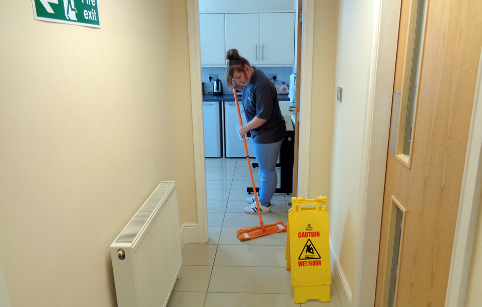 Intrinsic FM office cleaning